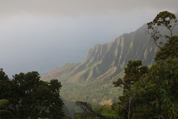 Looking down on the Na Pali Coast