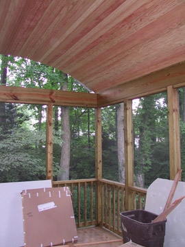 "Screened porch ""barrel vault"" ceiling"