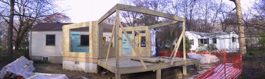 Initial porch framing