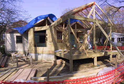 Porch & roof framing