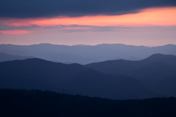 Sunset from Clingmans Dome, Great Smoky Mountains National Park, Tennessee