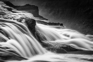 Black and White from Gulfoss, Iceland