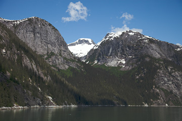 Glacial shapes along Tracy Arm