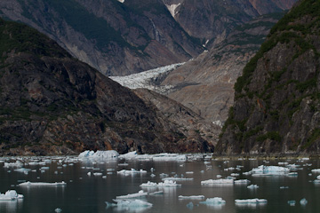 A glimpse of Sawyer Glacier from Tracy Arm