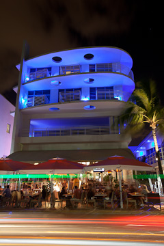 The Strand, at 1024 Ocean Drive, Miami Beach, at night