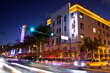 The Edison on Beach Drive, Miami Beach, at twilight
