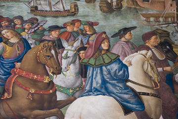 http://en.wikipedia.org/wiki/Siena_Cathedral#Piccolomini_Library on his horse