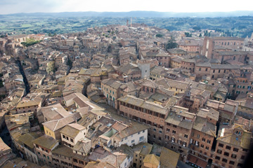 View from the tower in Siena