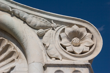 A detail at the top of Brunelleschi's dome