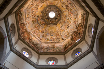 Looking up into Brunelleschi's dome