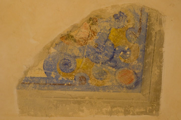 Fresco fragment in our hotel room