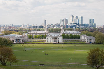 View from the Greenwich Observatory grounds