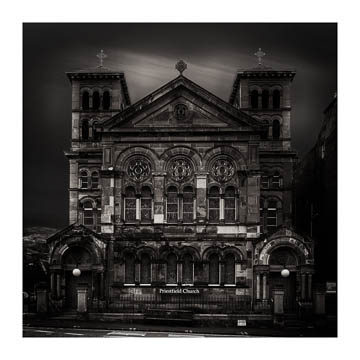 Priestfield Church, Edinburgh - long exposure